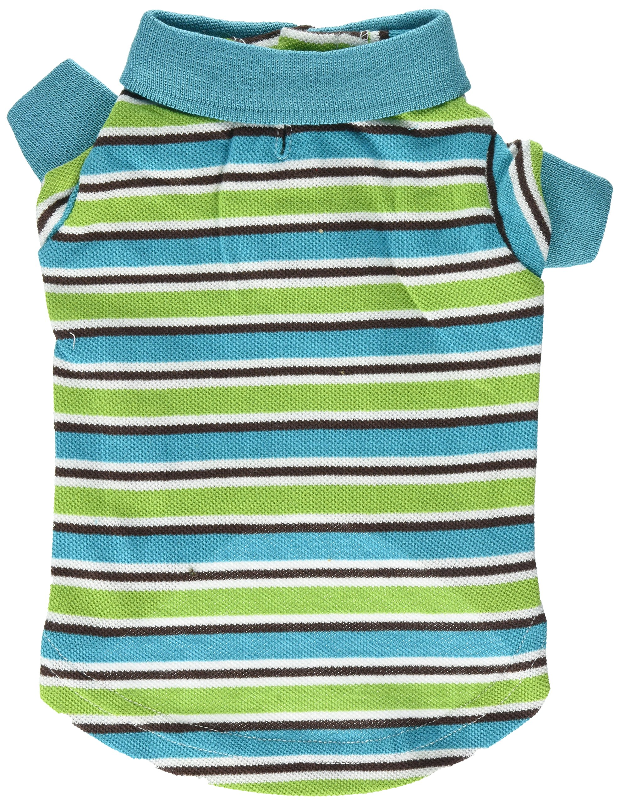 East Side Collection ZM3023 10 16 Brite Striped Polo Top for Dogs, X-Small, Bluebird by East Side Collection (Image #2)