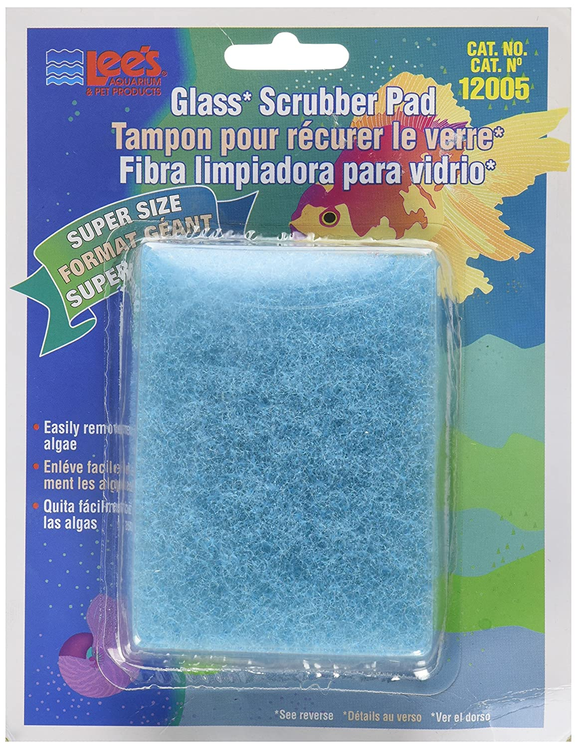 Lee's Pet Products ALE12005 Coarse Glass Algae Scrubber Pad for Aquarium TopDawg Pet Supply