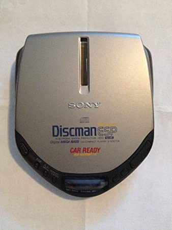 sony discman. sony d-e307ck discman cd compact player with electronic shock protection, avls and digital sony