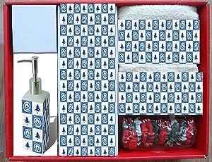 Carnation Home Fashions 16-Piece Blue Spruce Bath Set