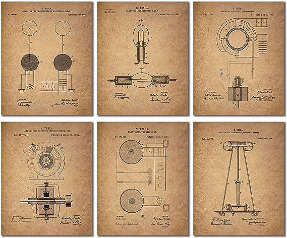 Tesla Patent Wall Art Prints