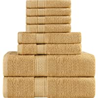 Utopia Towels Cotton Bath Towel Set - 8 Piece Includes 2 Bath Towels, 2 Hand Towels, and 4 Washcloths