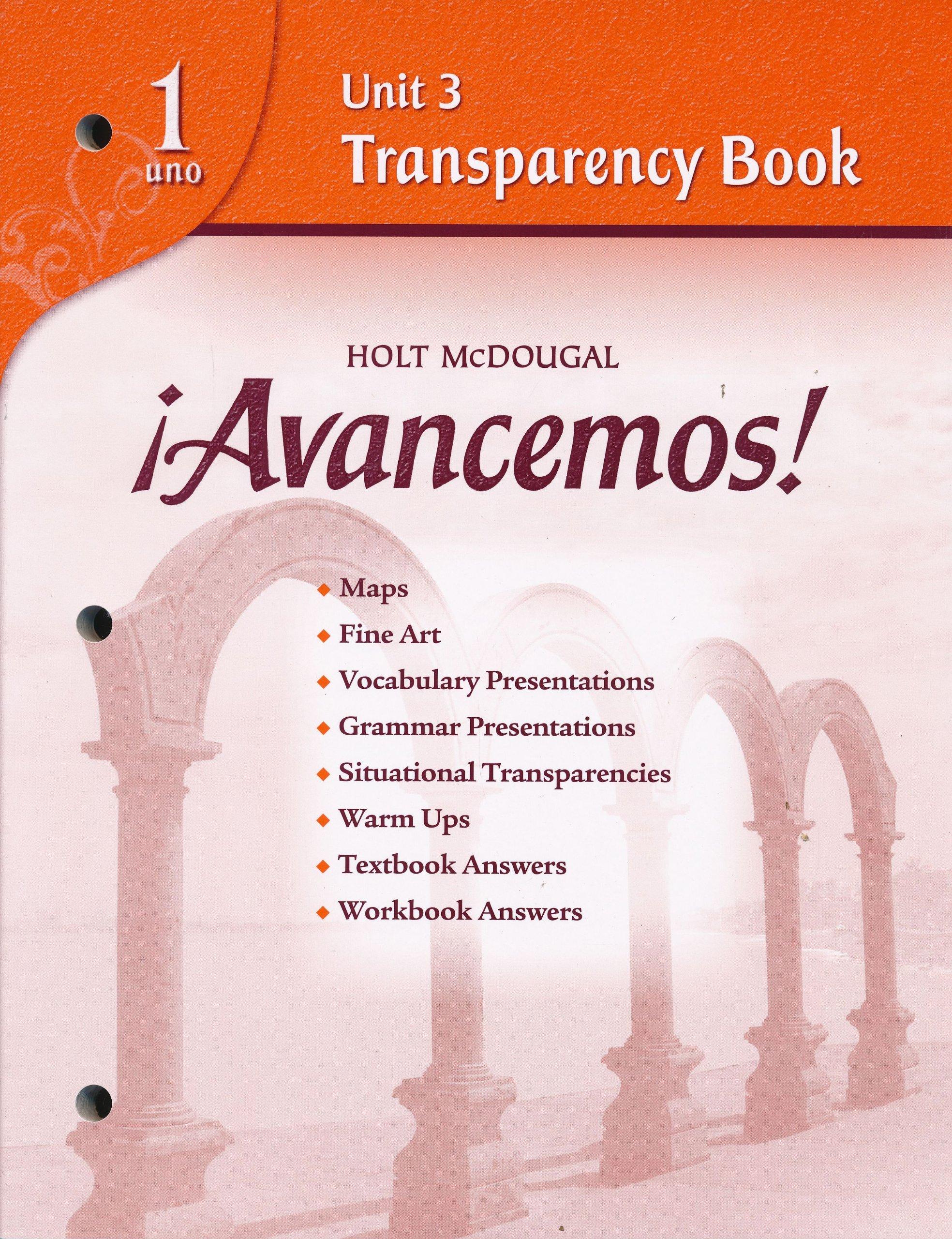Avancemos! 1 Unit 3 Transparency Book ebook