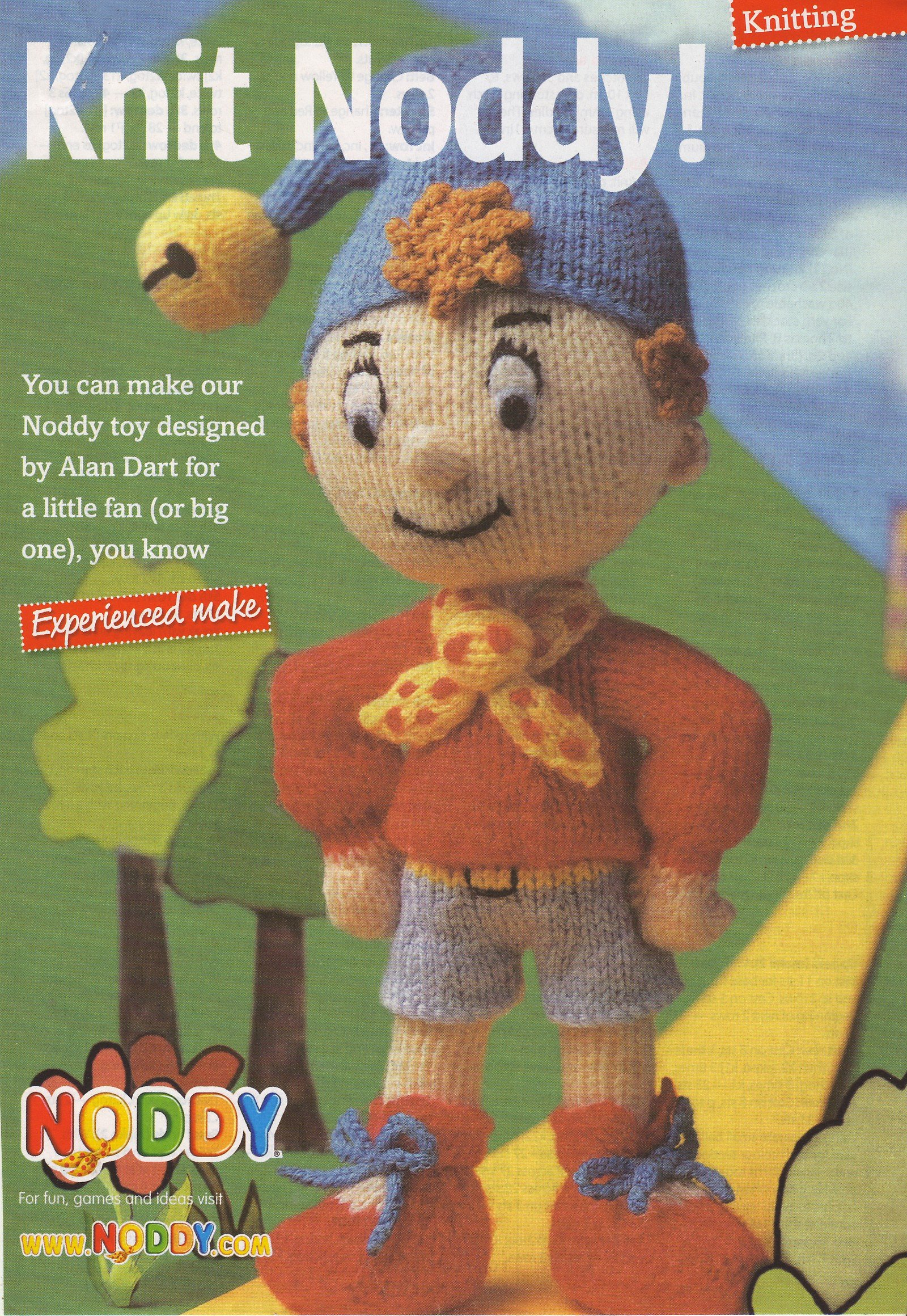 Noddy designed by Alan Dart Toy Knitting and Crochet Pattern ...