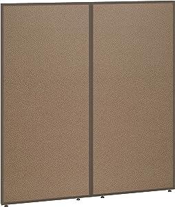 Bush Business Furniture ProPanels Office Partition, 66H x 60W, Harvest Tan