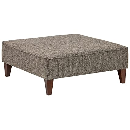 Tremendous Rivet Modern Oversized Upholstered Square Ottoman 38W Bear Pabps2019 Chair Design Images Pabps2019Com