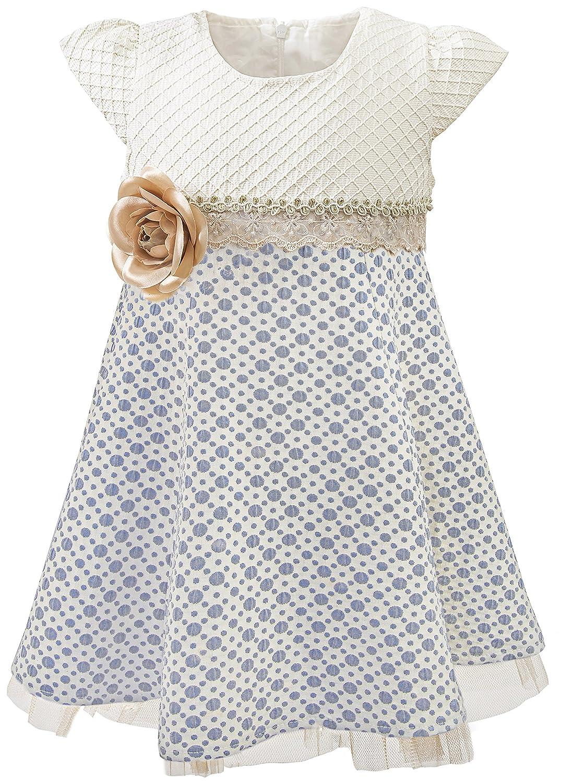 Lilax Little Girls' Sparkle Polka Dot Twirl Dress 3623