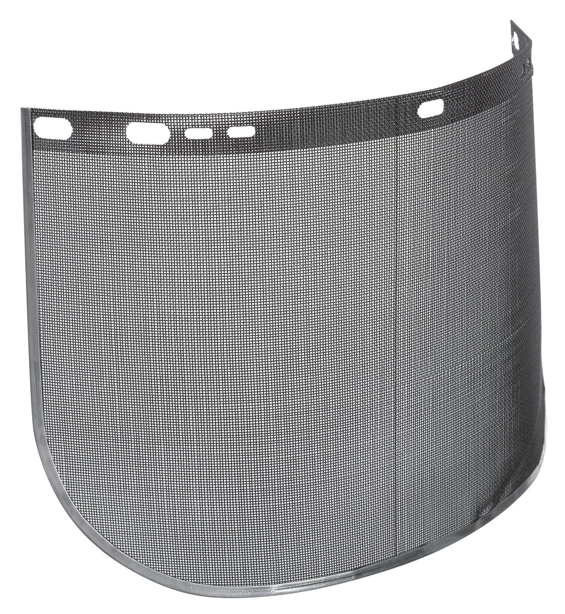 Jackson Safety F60 40 Mesh Steel Screen Aluminum Bound Wire Face Shield, 15-1/2'' Length x 9'' Width, Black (Case of 12)