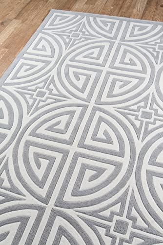 Momeni Rugs Bliss Collection Hand Carved Tufted Contemporary Area Rug, 2 x 3 , Grey