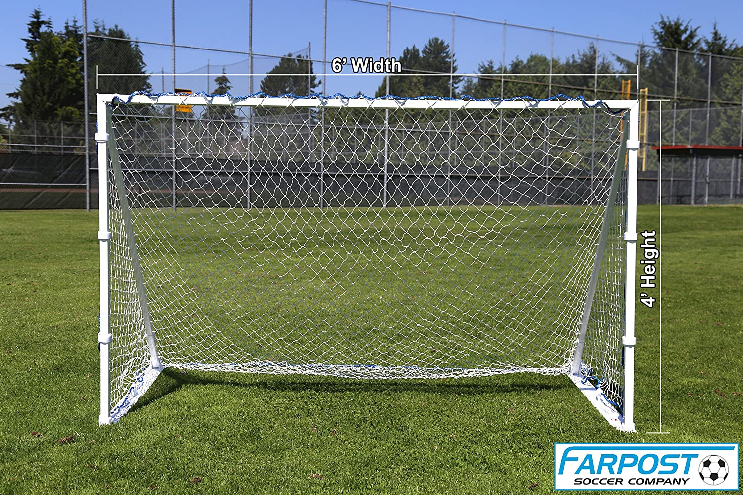 amazon com farpost portable aluminum soccer goal width changes