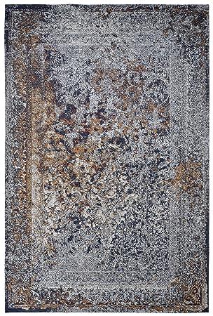 Amazon De Moderner Teppich Vintage My Milano 574 Blau Turkis Rot