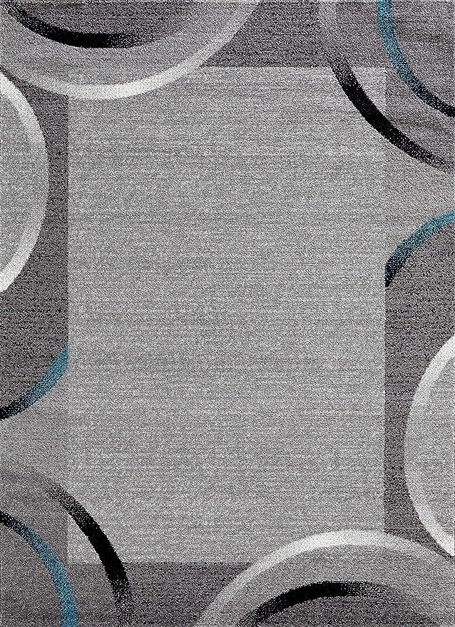 Collection Santana Bleu, 60 x 110 cm NAZAR Tapis de Salon Moderne avec Bordure de diff/érente Taille et Couleur