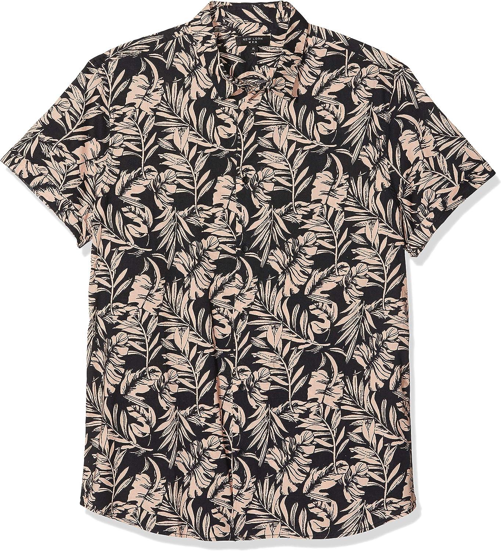 New Look 5125272 Camisa Casual, Rosa (patrón Rosa), XL para ...