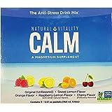 Natural Vitality Anti Stress Calm Magnesium Citrate Powder Supplement Drink | Raspberry Lemon Sweet Lemon Orange Cherry Origi