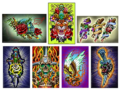 Amazon.com: Rock N Roll Tattoo Flash Prints, 7 - 11\