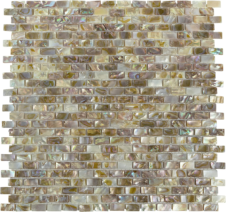 Glossy White 11.75 x 11.75 SomerTile FKOMB11 Moonlight Porcelain Mosaic Floor and Wall Tile