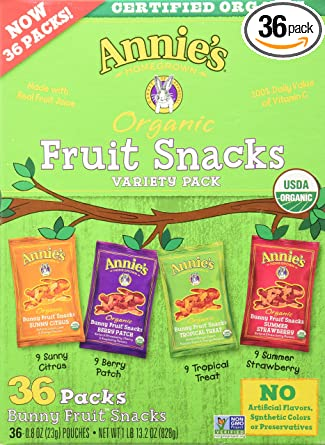 Annies Homegrown – Paquete de 36 bolsas de frutas orgánicas ...