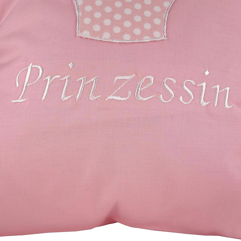 in Rosa personalisiertes Kissen mit Namen f/ür M/ädchen zur Geburt oder zur Taufe 40x40 Kuschelkissen Kleiner Karotraum