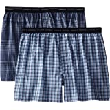 Hanes Men's 2-Pack Exposed Waistband Woven Boxers