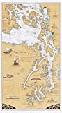 Sobay Map P001 - Puget Sound & San Juan Islands Chart - 30x54 Wall Map - Paper or Laminated (Paper)