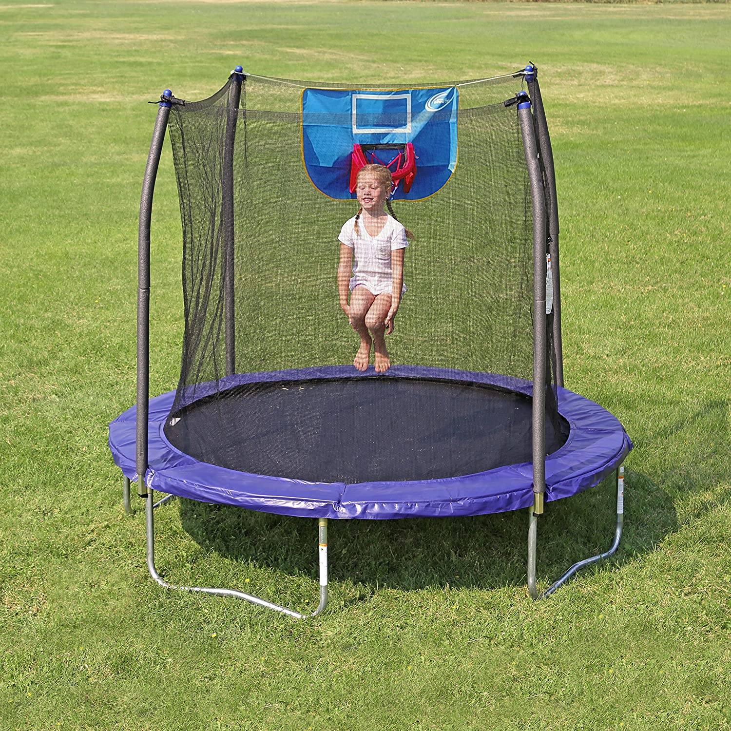 Skywalker Trampolines Jump N' Dunk Trampoline with Safety Enclosure