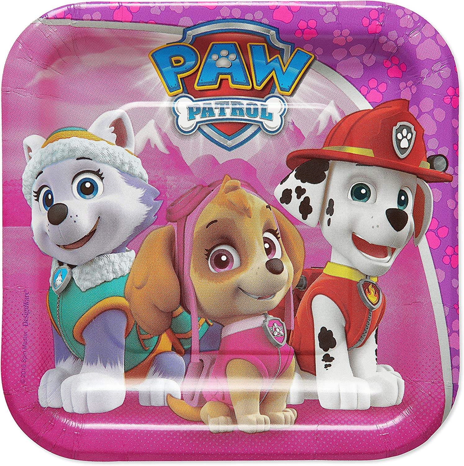 American Greetings Paw Patrol Paper Dessert Plates for Kids (40-Count)