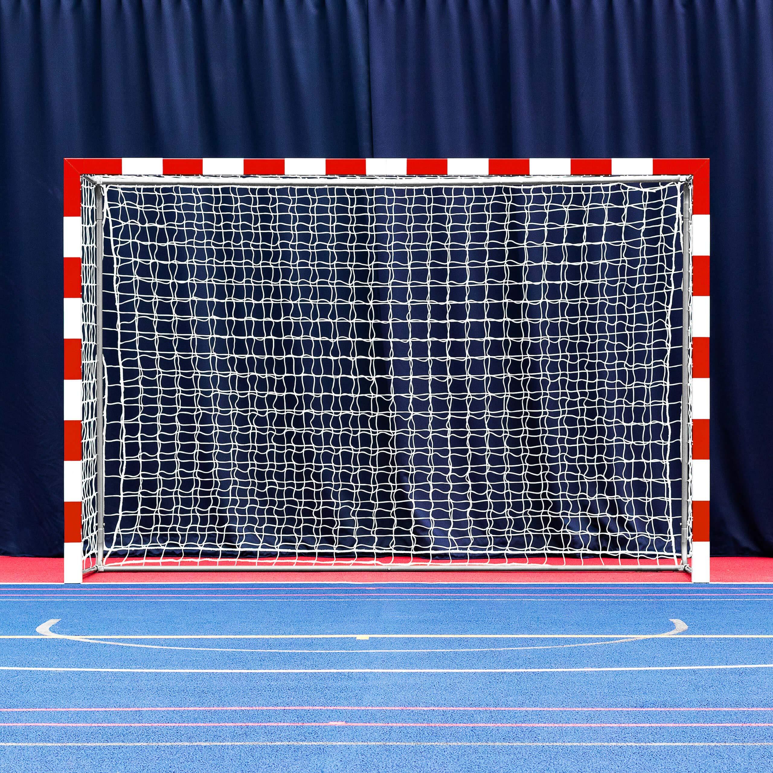 Forza Alu80 Competition Handball Goals | IHF Regulation Size 3m x 2m Handball Goal [Net World Sports] (Pair, Red) by Forza (Image #1)