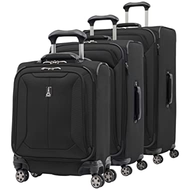 Travelpro Skypro Lite 3-Piece Expandable 8-Wheel Luggage Spinner Set: 29 , 25 and 17  Compact Boarding Bag
