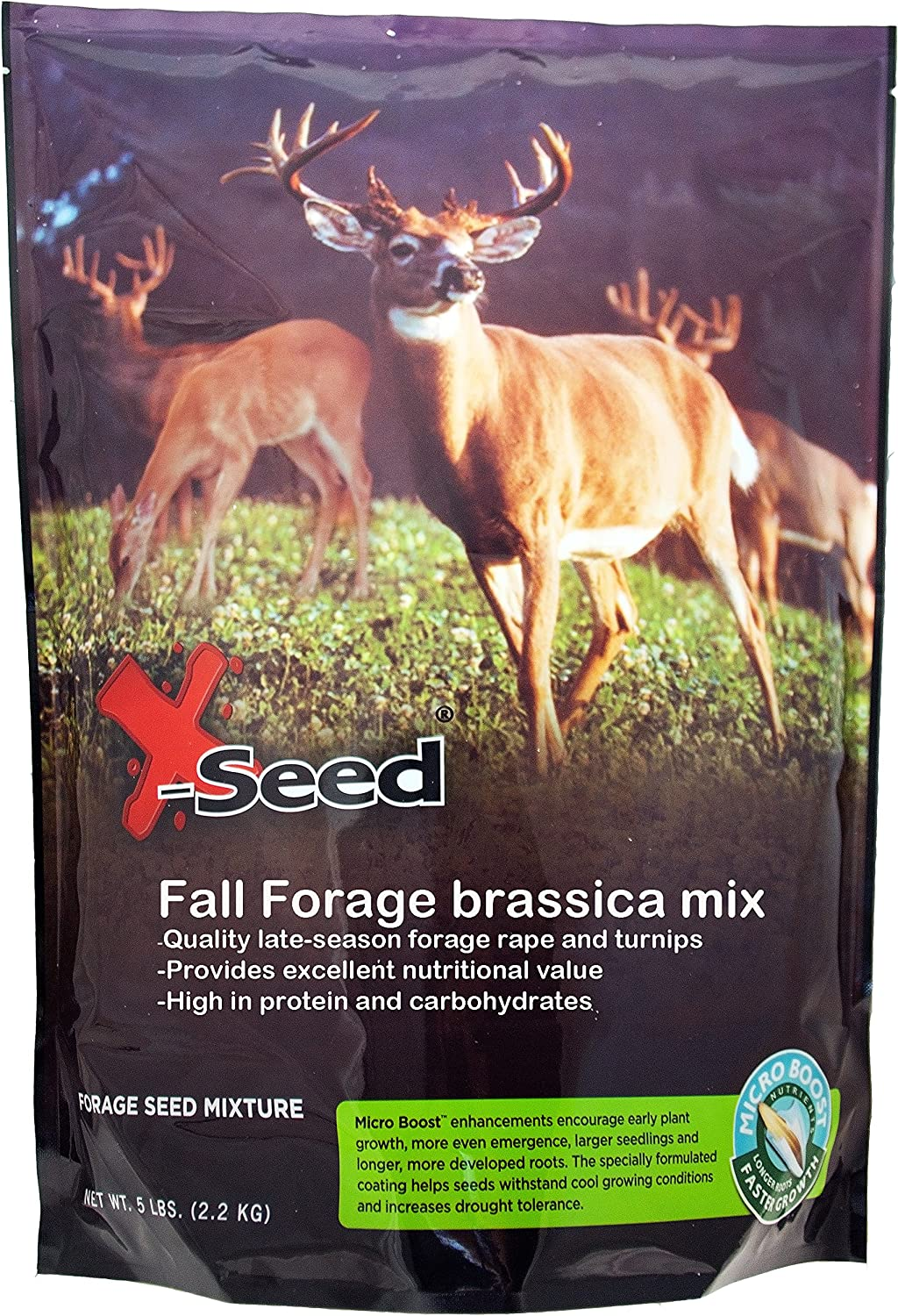 X-Seed 20210 Fall Foliage Brassica Food Plot Mixture with Micro-Boost