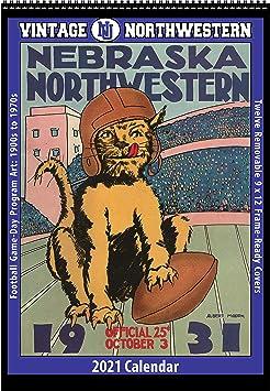 Northwestern Calendar 2021 Amazon.: 2021 Vintage Northwestern Wildcats Football Calendar