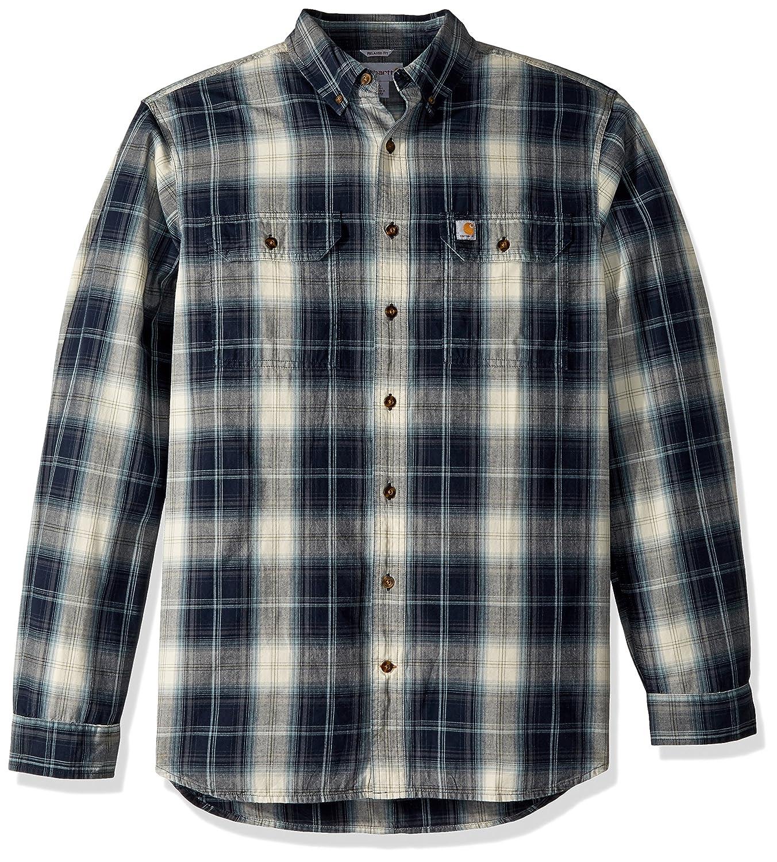 Carhartt Men's Big & Tall Fort Plaid Long Sleeve Shirt 103352BT