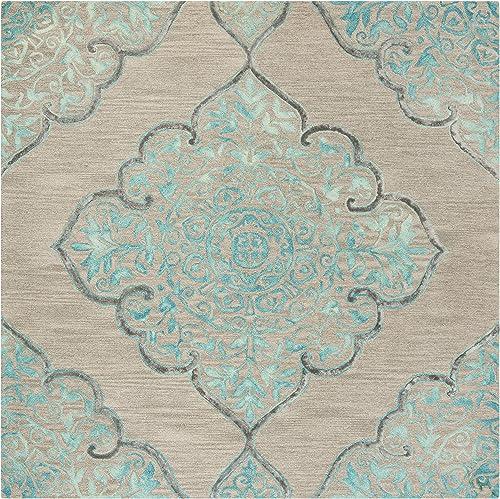 Safavieh Dip Dye Collection DDY510C Handmade Medallion Premium Wool Silk Area Rug