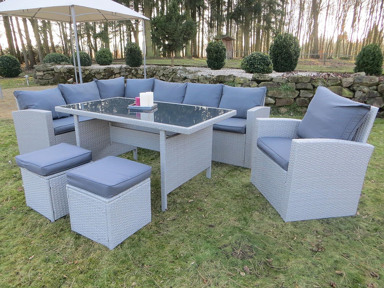 Amazon.de: Hohe Dinning Poly Rattan Lounge inkl. einem Sessel und ...