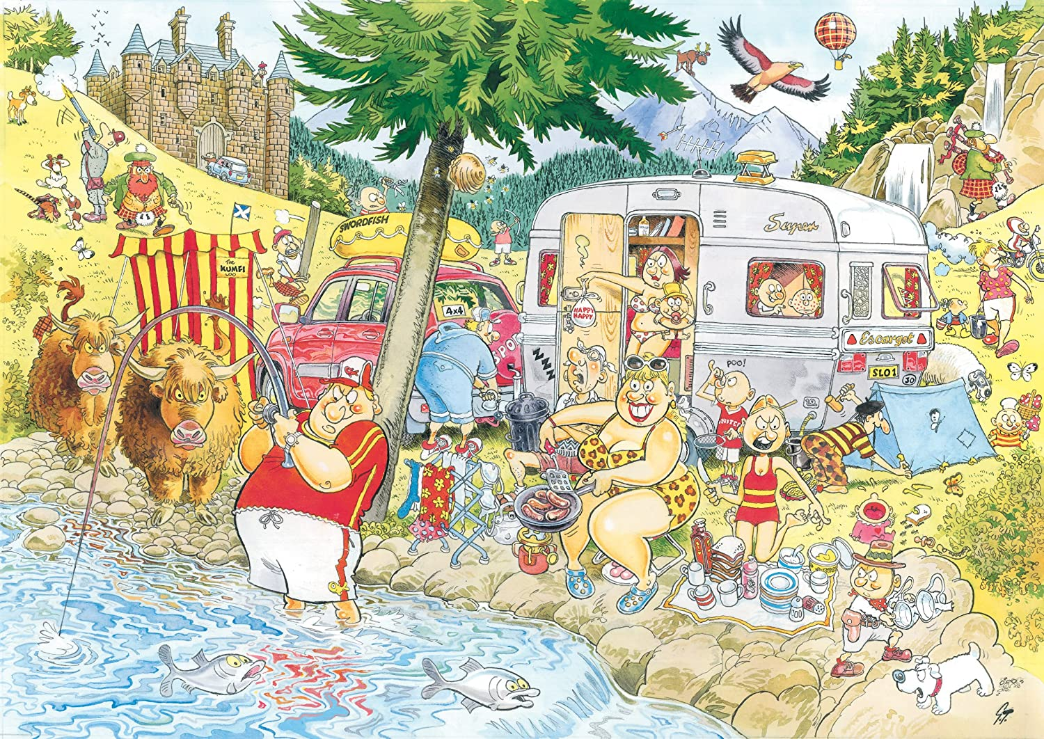 Amazon.com: Wasgij Mystery: Camping Commotion - 1000 Pieces Puzzle ...