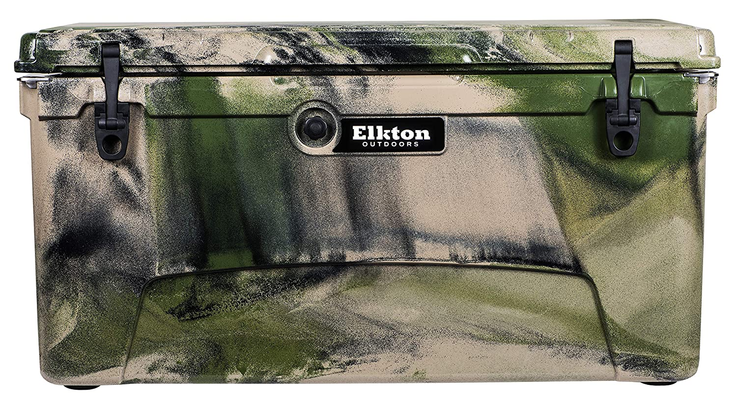 Elkton Outdoors Ice Chest. Heavy Duty, High Performance Roto-Molded Commercial Grade Insulated Cooler, 110-Quart