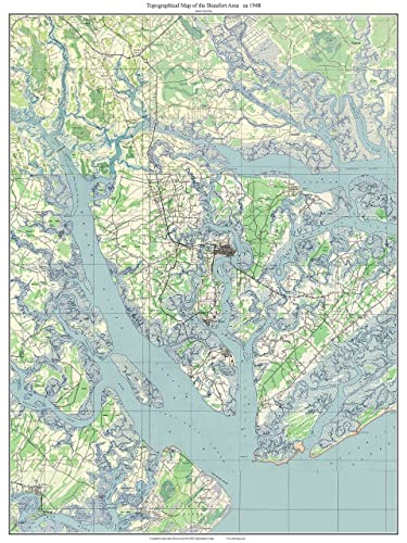 Amazon.com: Beaufort South Carolina 1948 Old Topographic Map USGS ...
