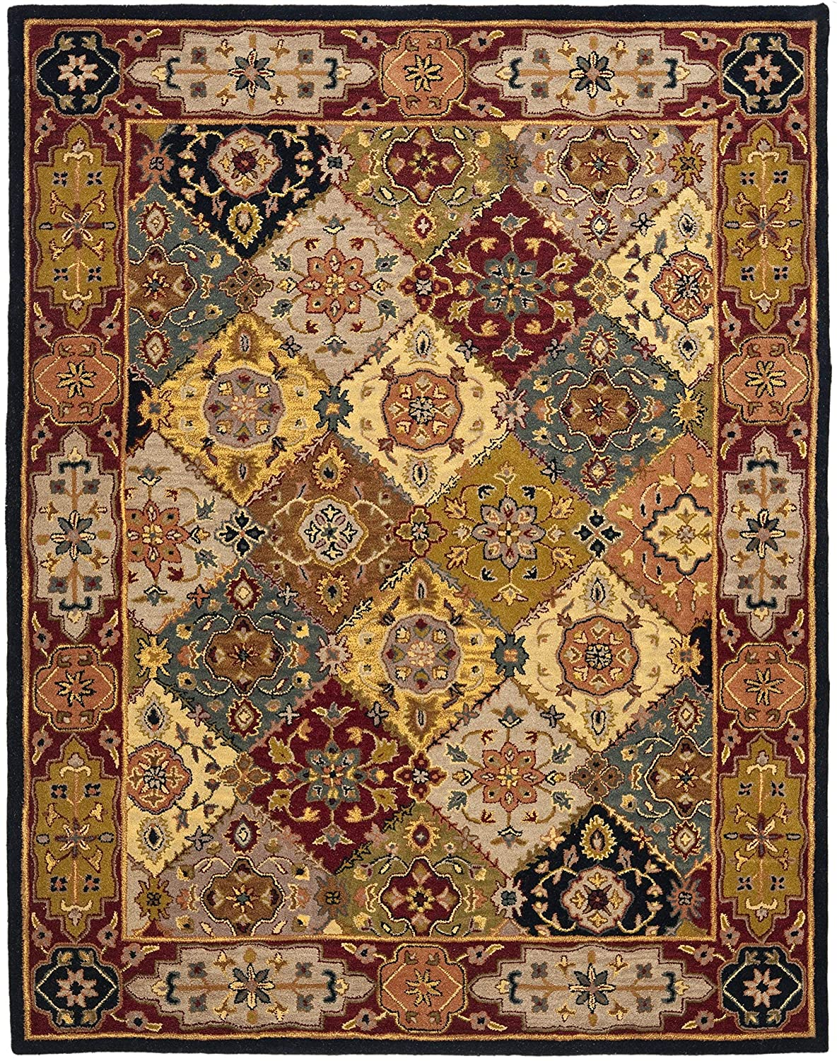 Safavieh Heritage Collection HG512A Handcrafted Traditional Oriental Multicolored Wool Runner HG512A-28 23 x 8
