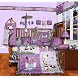 SISI Baby Boutique - Safari 13 PCS Girl Crib Bedding Set