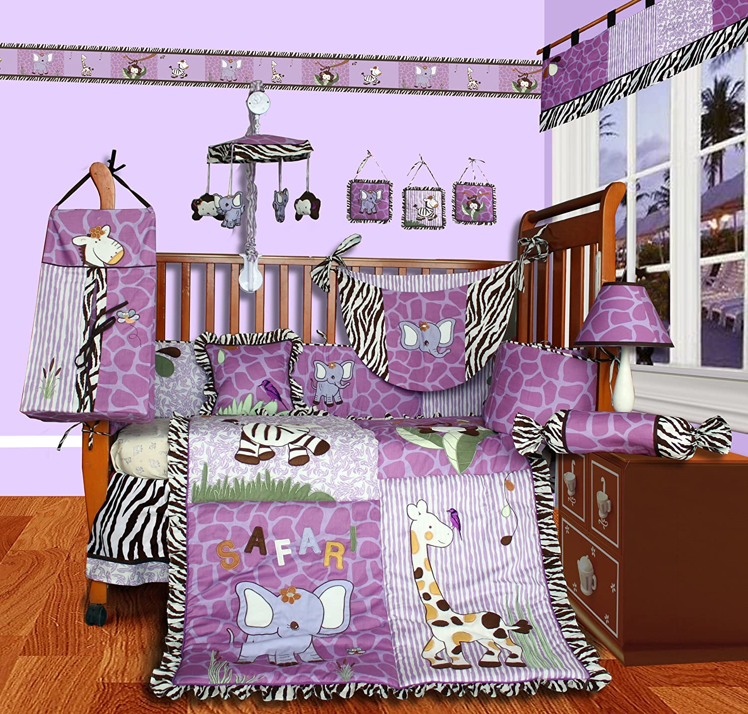 Amazon.com : SISI Baby Boutique - Safari 13 PCS Girl Crib Bedding Set : Crib  Bedding Sets : Baby - Amazon.com : SISI Baby Boutique - Safari 13 PCS Girl Crib Bedding