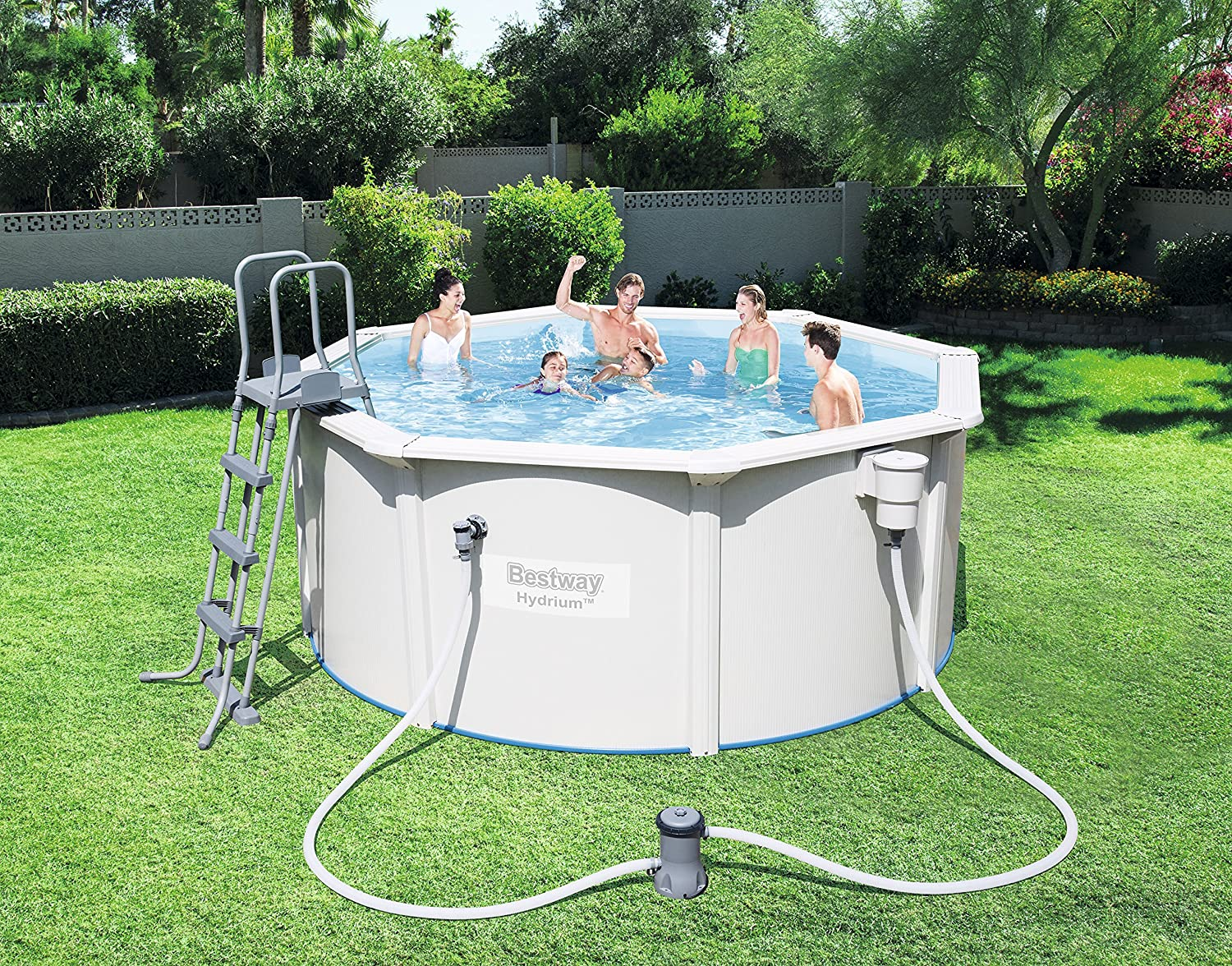 Bestway Best Way - Piscina Desmontable de Acero hydrium 300x120 cm ...