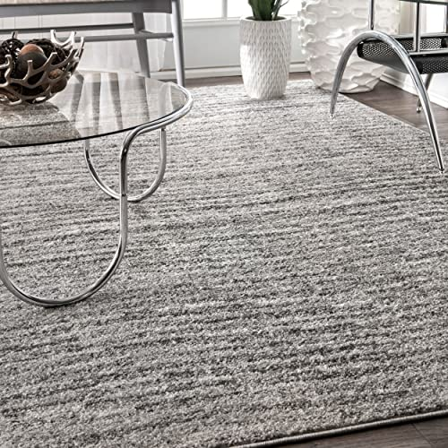 nuLOOM BDSM01A Ripple Contemporary Sherill Area Rug, 3 x 5 , Grey, Gray