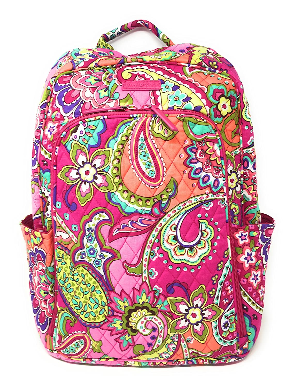 Vera Bradley Laptop Backpack Updated Version with Solid Color Interiors  Pink Swirls with Pink Interiors  Amazon.in  Bags 310d94e0250ff