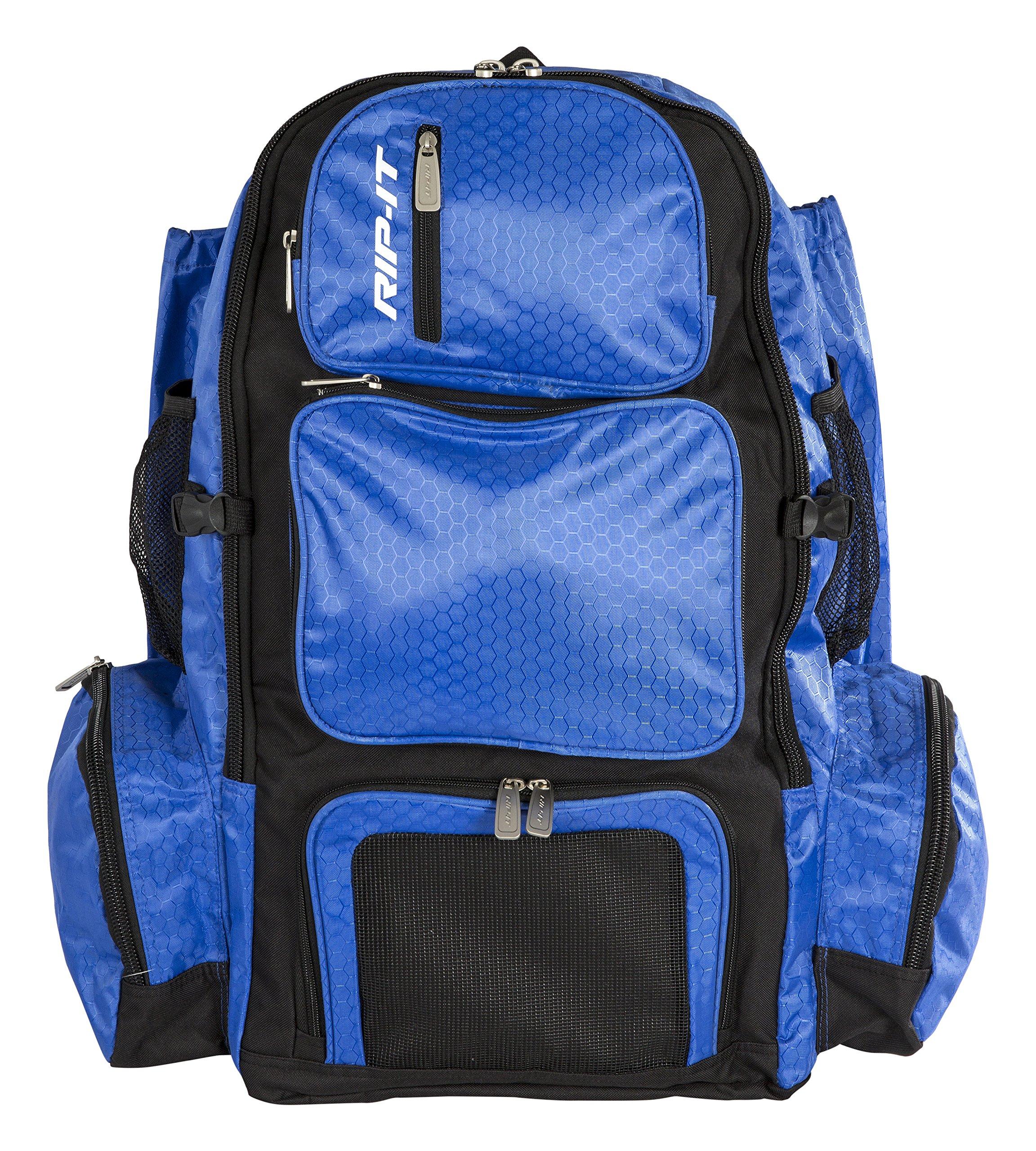 RIP-IT Pack It Up Backpack - Softball Equipment Bag - Royal