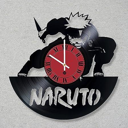 Reloj de pared de disco de vinilo Anime de Naruto Ninja ...