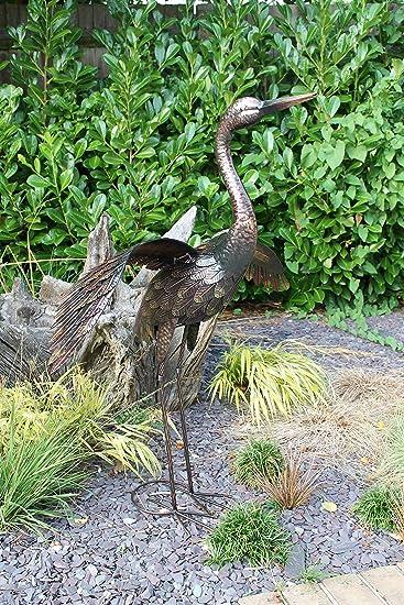 Au/ßendekoration f/ür Garten Metall Gartenstecker // Blumengartenstecker Gartenstecker: Phlox Feuerblume Klein - L/änge 115cm // /Ø 20cm