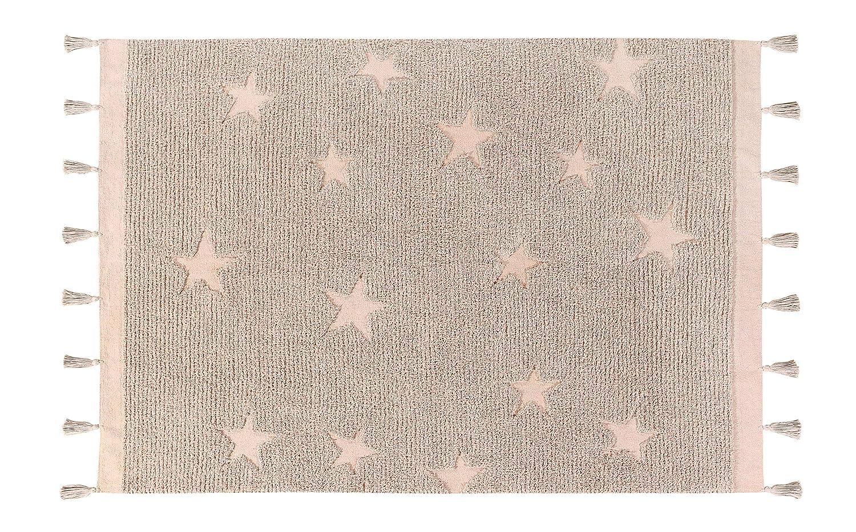 Lorena Canals – Alombra Hippie Stars – 120 x 170 cm, Pink