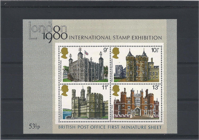 Stampbank Oficina de Correos británica Primera Hoja de Sellos Miniatura - London 1980 exposición filatélica Internacional SGMS1058 / 1980 / MNH / GB: Amazon.es: Juguetes y juegos
