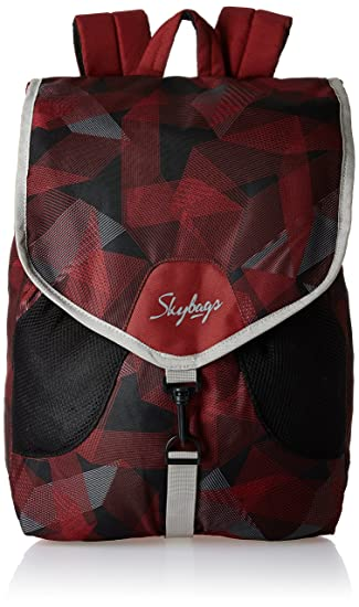 be8a4dfc05 Image Unavailable. Image not available for. Colour  Skybags Surf Nylon Red  Casual Backpacks ...