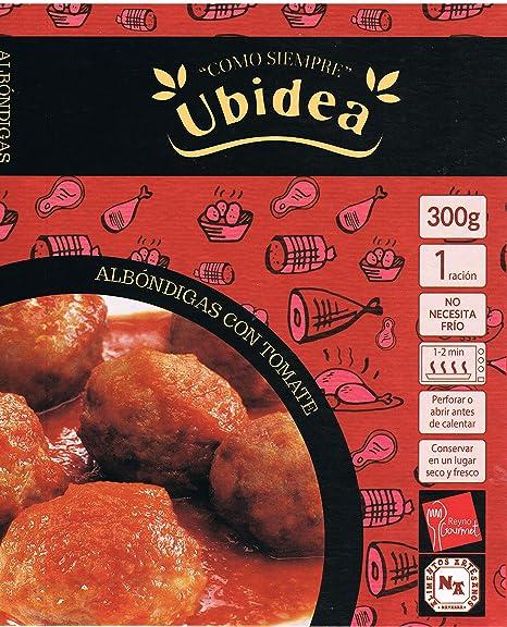 Albóndigas con Tomate - Ubidea - 3 platos