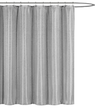 Kensie Home Jane Fabric Shower Curtain: Subtle Pinstripe With Sequins  Accents, 70u0026quot; X